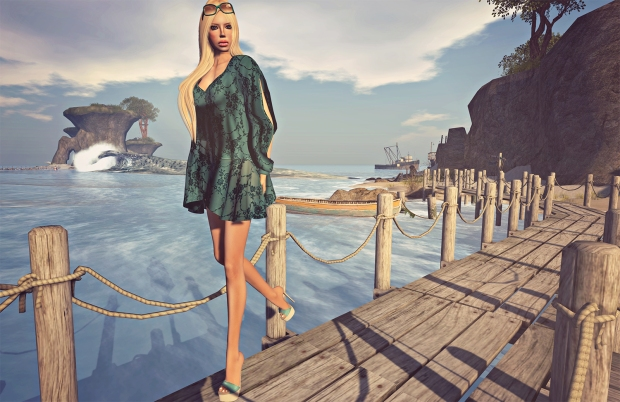 Azul dress - Entwined hair - Second Life Fashion